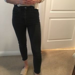 Topshop Jeans | High Waisted Black Denim